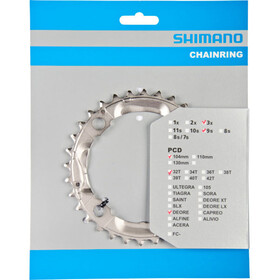 Shimano Deore FC-M532 Chainring 3 x 9-speed silver